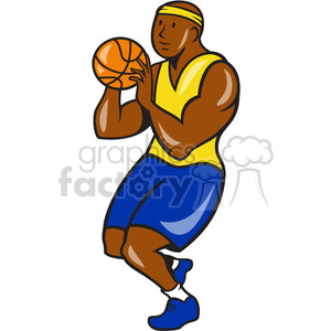 basketball player shoot ball clipart. Royalty-free image # 391435