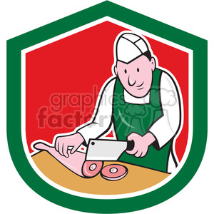 butcher chop leg meat clipart. Royalty-free image # 391445