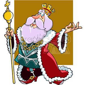cartoon king clipart. Royalty-free image # 391467