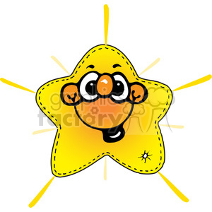 cartoon happy star clipart. Royalty-free image # 391577