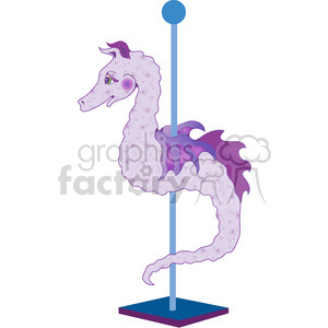 Carousel Seahorse clipart. Royalty-free image # 391594