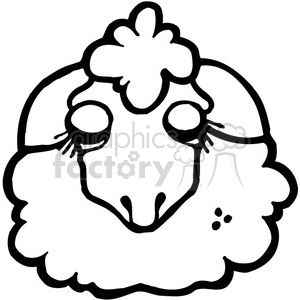 Lamb Sheep 02 clipart. Royalty-free image # 391614