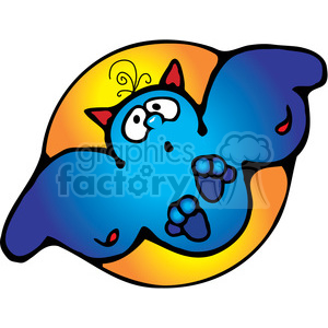 Halloween Bat clipart. Royalty-free image # 391530