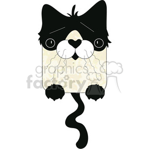 Flat Cat 01 clipart. Royalty-free image # 391585