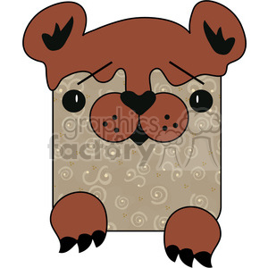 Flat Bear clipart. Commercial use image # 391563