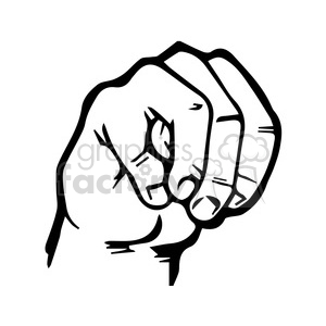 sign language letter M clipart. Royalty-free image # 167501