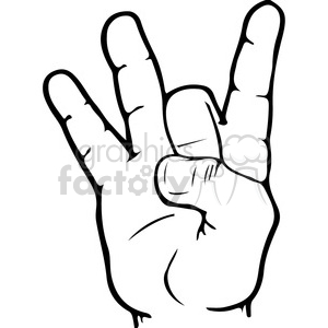 ASL sign language 8 clipart illustration clipart. Royalty-free image # 391656