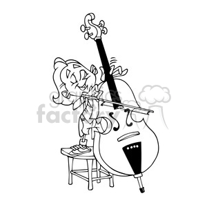 child Viola musician cartoon caricature
