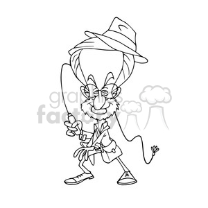 Steven Spielberg bw cartoon caricature clipart. Royalty-free image # 391751