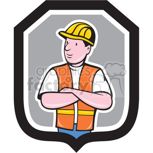 construction worker folded arms shape clipart. Royalty-free image # 392403