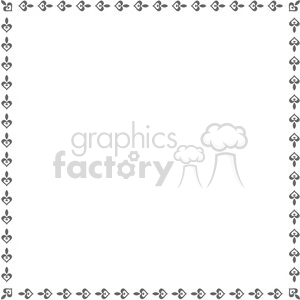 heart frame swirls boutique design border 15 clipart. Royalty-free image # 392457