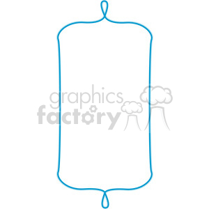 blue lines frame swirls boutique design border 12 clipart. Royalty-free image # 392487