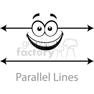 geometry parallel cartoon face lines horizontal math clip art graphics images