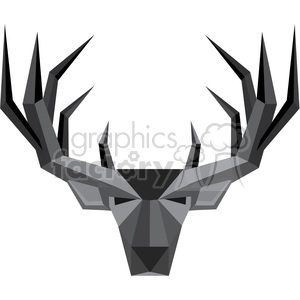 geometric buck illustration silhouette geometry logo vector graphic clipart. Commercial use image # 392578