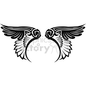 vinyl ready vector wing tattoo design 006 clipart. Commercial use image # 392681