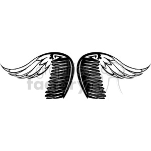 vinyl ready vector wing tattoo design 037 clipart. Royalty-free image # 392691