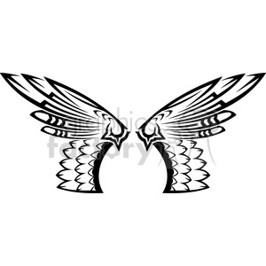 vinyl ready vector wing tattoo design 019 clipart. Commercial use image # 392711