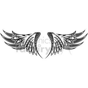 vinyl ready vector wing tattoo design 030 clipart. Royalty-free image # 392721