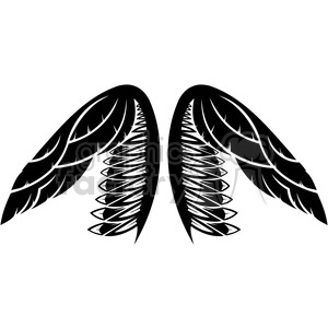 vinyl ready vector wing tattoo design 031 clipart. Royalty-free image # 392731