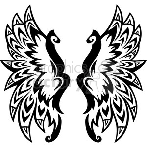 vinyl ready vector wing tattoo design 086
