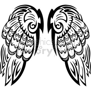 angel wings clipart. Royalty-free image # 392761