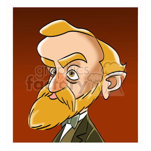 celebrity famous cartoon editorial-only people funny caricature alfred+nobel