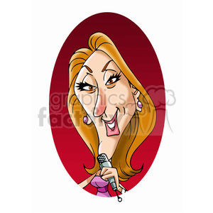 celine dion color clipart. Commercial use image # 392921