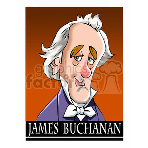 james buchanan color clipart. Royalty-free image # 392952