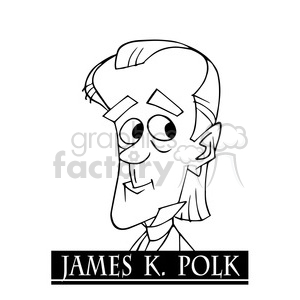 celebrity famous cartoon editorial-only people funny caricature james+k+polk president 11th