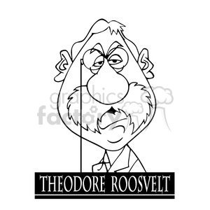 theodore roosevelt black white clipart. Royalty-free image # 393019