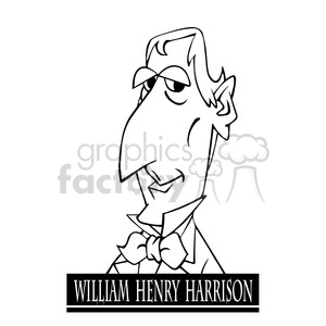 william henry harrison black white clipart. Commercial use image # 393059