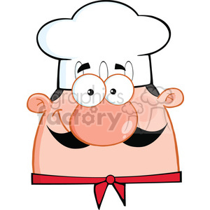 6826_Royalty_Free_Clip_Art_Cute_Chef_Head_Cartoon_Character