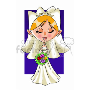wedding marriage cartoon character bride