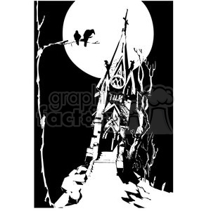 haunted house clipart. Commercial use image # 144648