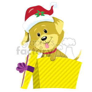 puppy in a box clipart. Commercial use image # 393422