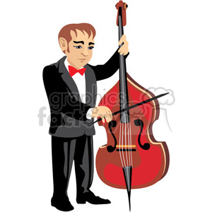 male musician playing chello clipart. Royalty-free image # 393643