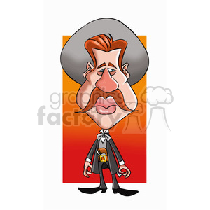 vector val kilmer cartoon character clipart. Royalty-free image # 393713