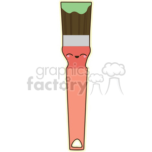 Paintbrush vector clip art image clipart. Commercial use image # 393767