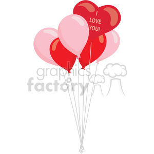 valentines ballons vector clipart. Royalty-free image # 393827