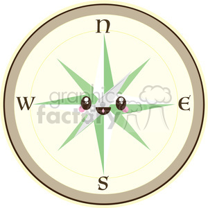 cartoon Compass illustration clip art image clipart. Royalty-free image # 393837
