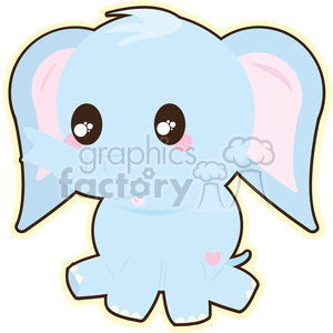 cartoon Elephant illustration clip art image clipart. Royalty-free image # 393847