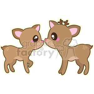 cartoon Fawns illustration clip art image clipart. Commercial use image # 393857
