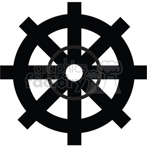 Gear 06 or Ship Wheel clipart. Royalty-free image # 394103