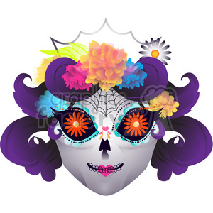 Day of the Dead mask illustration
