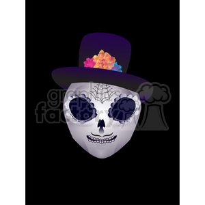 Day of the Dead 2 cartoon character illustration clipart. Royalty-free image # 394133