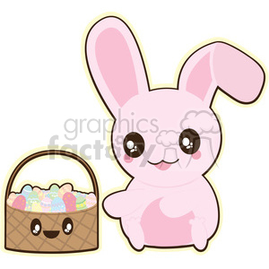 Easter Bunny cartoon character illustration clipart. Royalty-free image # 394173