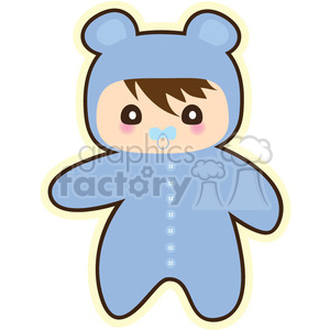 Baby cartoon character illustration clipart. Royalty-free image # 394203