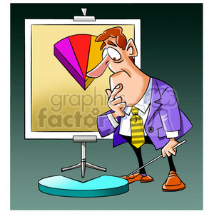 salesman with dissapointing profits clipart. Royalty-free image # 394243