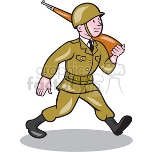 soldier marching rifle clipart. Royalty-free image # 394374