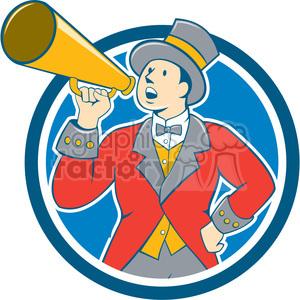 circus ringmaster bullhorn CIRC clipart. Royalty-free image # 394384